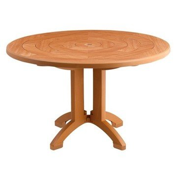 "48"" Round Aquaba Plastic Resin Table"