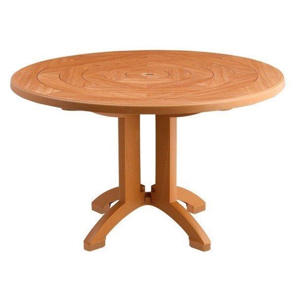 "48"" Round Aquaba Plastic Resin Table"