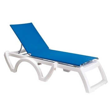 Calypso Sling Chaise Lounge, Plastic Resin Frame with Vinyl Coated Polyester Sling Fabric