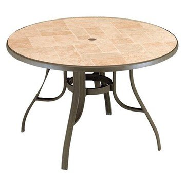 "48"" Round Louisiana Toscana Decor Aluminum Patio Table"