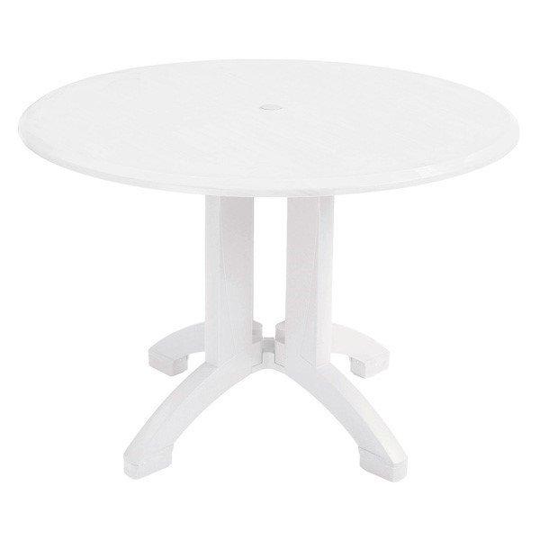 """42"""" Round Atlanta White Decor Plastic Resin Table"""