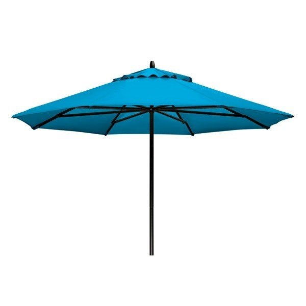9' Telescope Casual Powdercoat Aluminum Market Umbrella