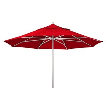 11' Telescope Casual Powdercoat Aluminum Market Umbrella