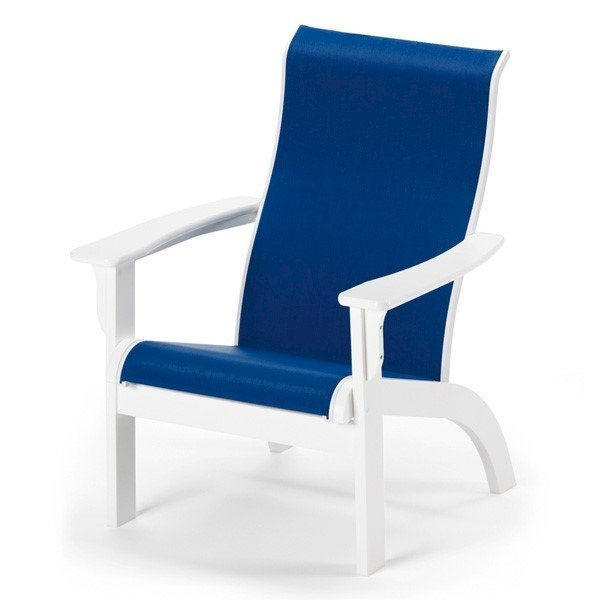 Telescope Adirondack Sling Dining Chair with Marine Grade Polymer Frame