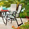 Telescope Aruba II Sling High Back Dining Chair with Aluminum Frame