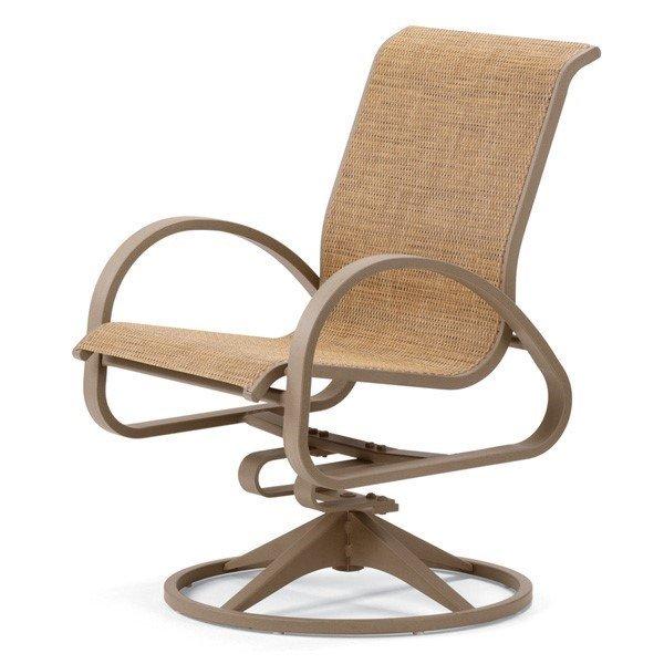 Telescope Aruba II Sling Swivel Rocker Chair with Aluminum Frame