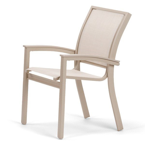 Telescope Bazza Dining Chair with Aluminum Frame and Marine Grade Polymer Accents