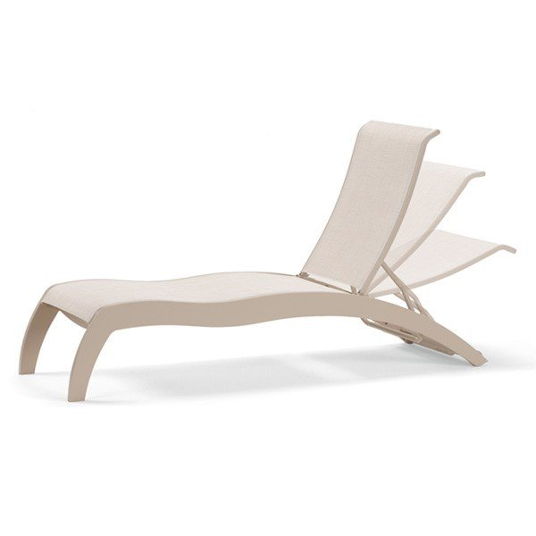 Telescope Dune Sling Chaise Lounge With Armless Marine