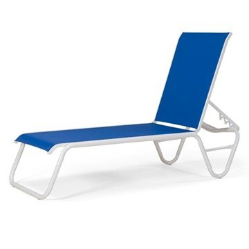 Telescope Gardenella Armless Sling Chaise Lounge with Aluminum Frame