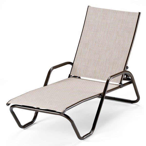Telescope Gardenella Sling Chaise Lounge with Aluminum Frame
