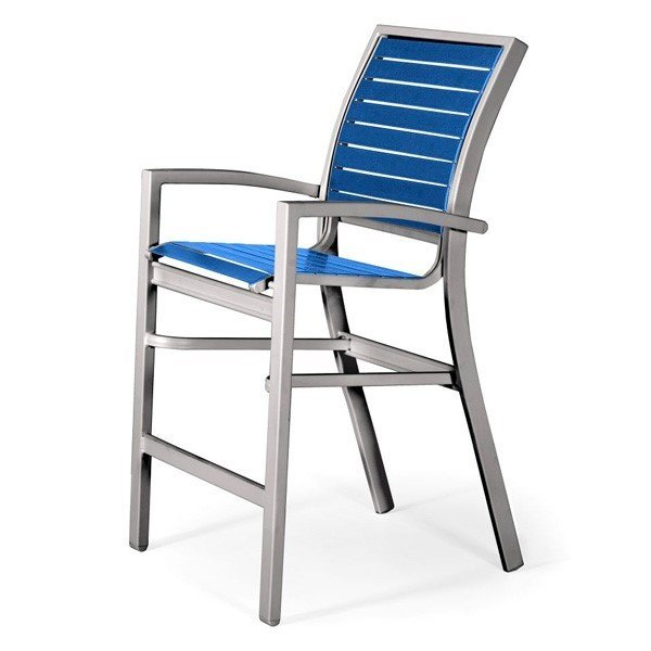 Telescope Kendall Strap Counter Chair with Aluminum Frame