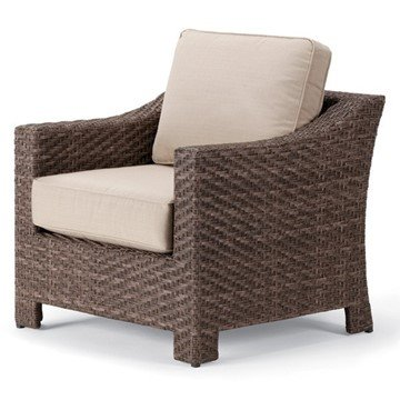 Telescope Lake Shore Outdoor Cushion Arm Chair with Wicker Frame