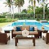Telescope Lake Shore Outdoor Cushion Sofa with Wicker Frame