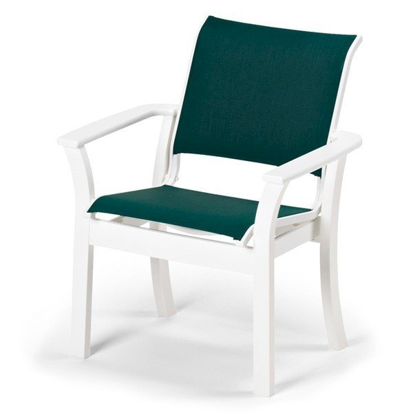 Telescope Leeward Sling Cafe Dining Chair with Marine Grade Polymer Frame