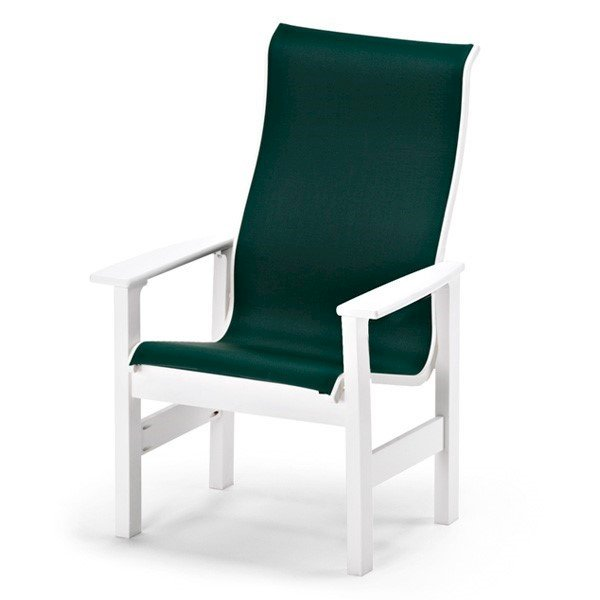 Telescope Leeward Sling High Back Dining Chair with Marine Grade Polymer Frame