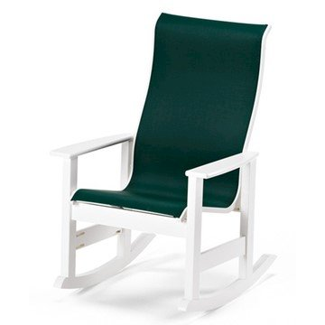 Telescope Leeward Sling High Back Rocking Chair with Marine Grade Polymer Frame
