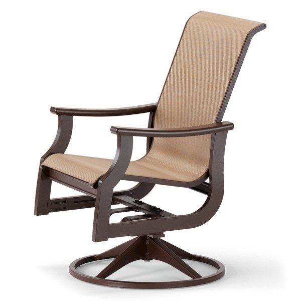 Telescope St. Catherine High Back Swivel Rocker Dining Chair with Marine Grade Polymer Frame