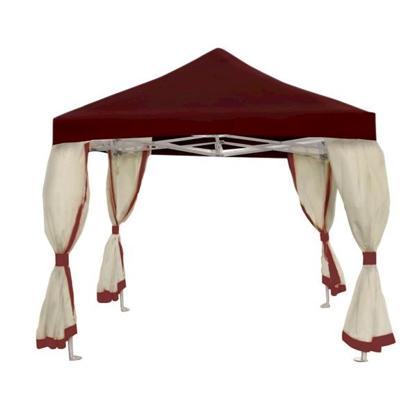 10 Ft. Square Deluxe Portable Pop Up Tent With Curtains - 104 Lbs.