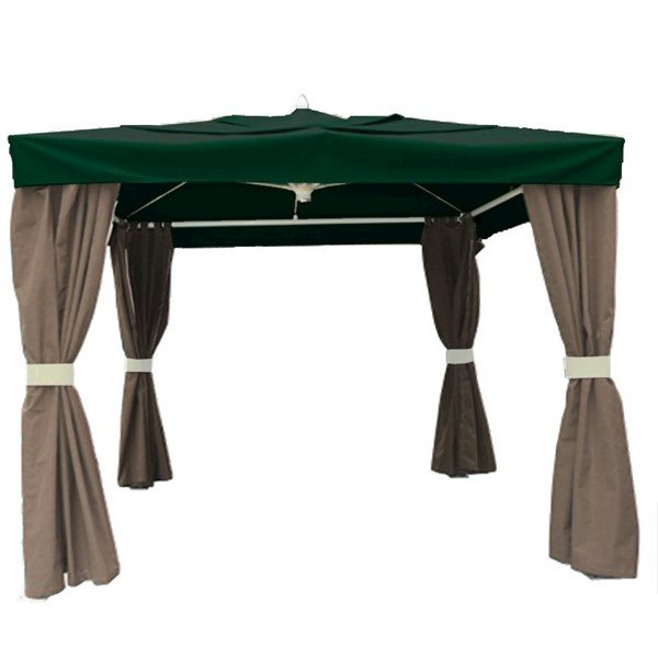 10 Ft. Square Semi-Permanent Pavilion Shade Structure – 130 Lbs.