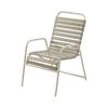 St. Maarten Vinyl Strap Dining Chair - Commercial Aluminum Frame