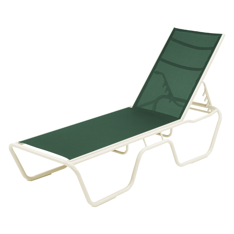 Neptune Sling Chaise Lounge With Stackable Commercial