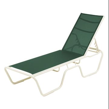 Neptune Chaise Lounge Sling Commercial Aluminum Frame