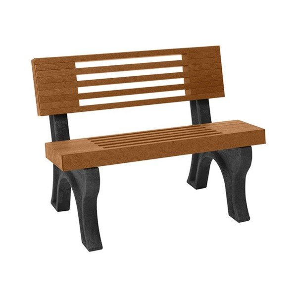 Elite Recycled Plastic Backed Bench with Portable Frame