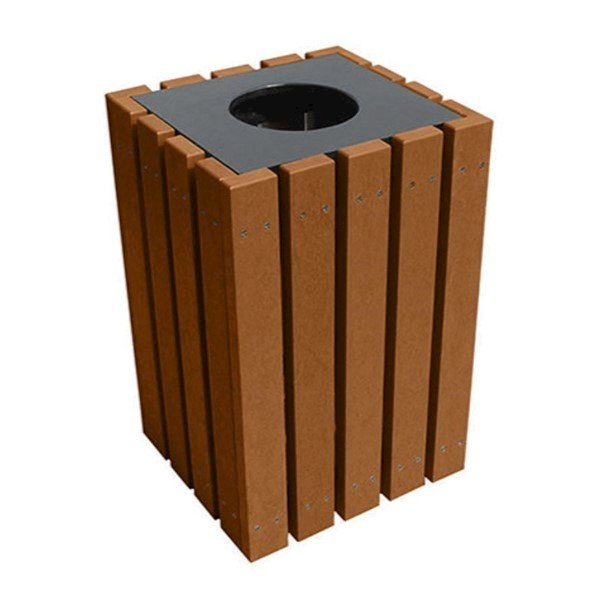 22 Gallon Recycled Plastic Square Trash Can