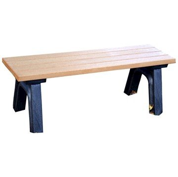 Deluxe Recycled Plastic Bench without Back