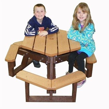 Open Hexagon Youth Recycled Plastic Table