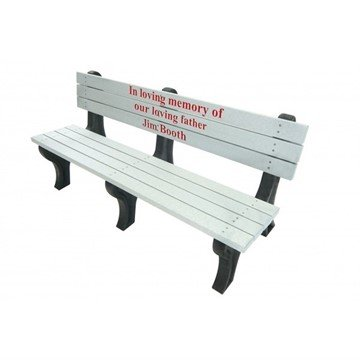 Deluxe Recycled Plastic Bench with Custom Logo