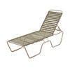 St. Maarten Vinyl Strap Chaise Lounge - Commercial Aluminum Frame