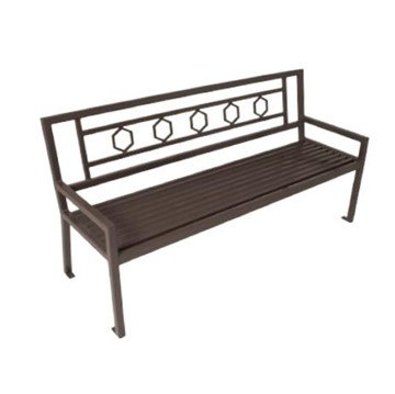 Biscayne Bench with Back