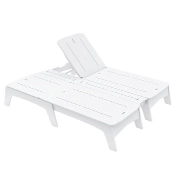 Mainstay High Density Polyethylene Double Chaise Lounge