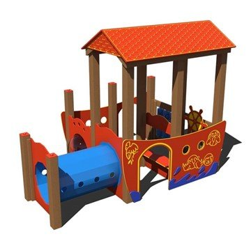 Noah's Ark Junior Playground Set Made From Recycled Plastic - Ages 6 Months To 2 Years - Front