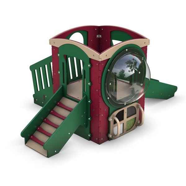 Tot Trek Mini Base Commercial Playset Made From Recycled Plastic - Ages 6 Months To 2 Years - Front