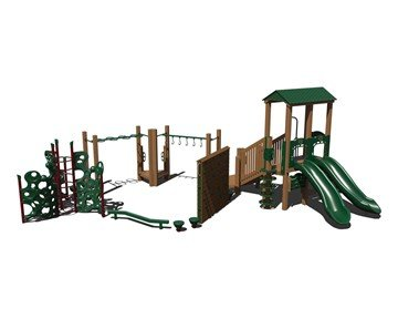 The Floor Is LAVA Commercial Steel Playground Equipment - Ages 5 To 12 Years - Front