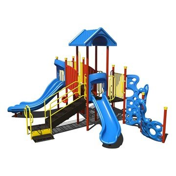 Commercial Slide N' Climb Steel Playset - Ages 2 To 12 Years - Front