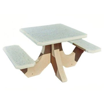 "36"" Square 2-Seat Concrete Picnic Table - 820 Lbs."