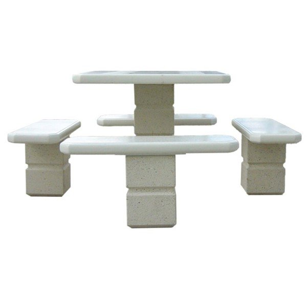"""36"""" Square Independent Concrete Picnic Table"""