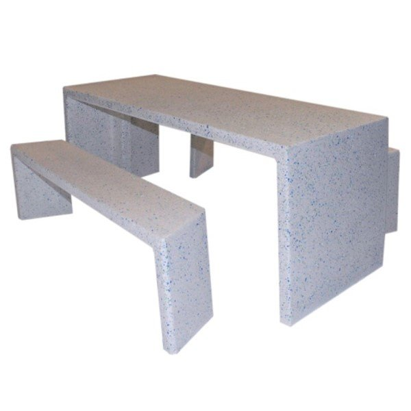 7 Ft. Rectangular Independent Concrete Picnic Table - 2040 lbs.