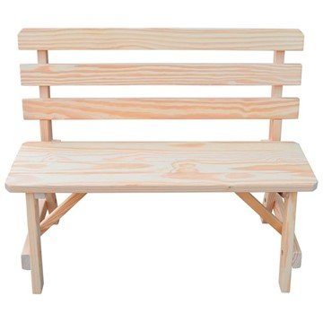 Traditional Wooden Bench with Back