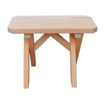 Cross Leg Wooden Bench without Back