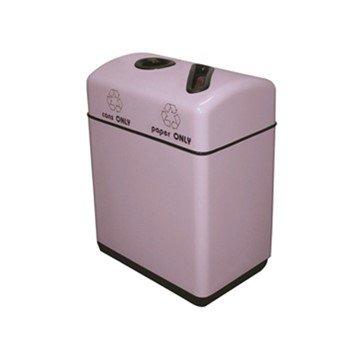 22 Gallon Rectangular Fiberglass Recycling Receptacle