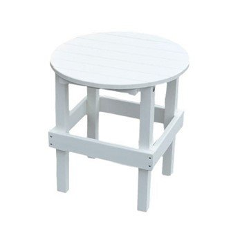 Handmade Recycled Plastic Round Side Table - 13 lbs.