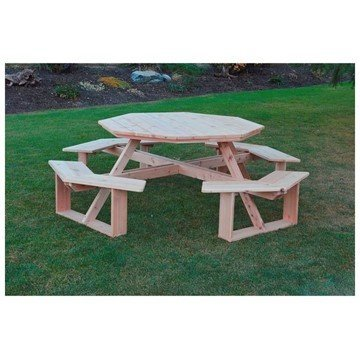"54"" Octagonal Walk-In Wooden Picnic Table"