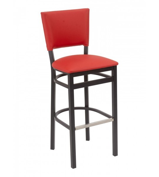 Metro Interior Restaurant Bar Chair With Metal Frame And Wooden Or Vinyl Upholstered Seat