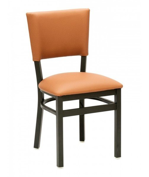 Metropolitan Interior Restaurant Dining Chair with Metal Frame and Wooden or Vinyl Upholstered Seat - 14 lbs. - MET-05S XT