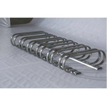 12 Space Low Profile Bike Rack, Galvanized Steel