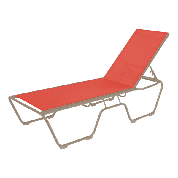 St. Maarten Chaise Lounge - Commercial Aluminum Frame with Sling Fabric
